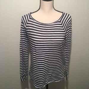 J. CREW Striped Long-Sleeve Top